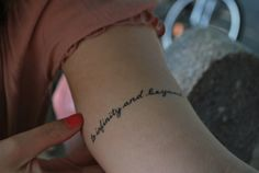 To infinitiy and beyond text tattoo