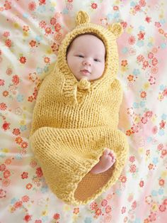 Baby bunting knitting pattern