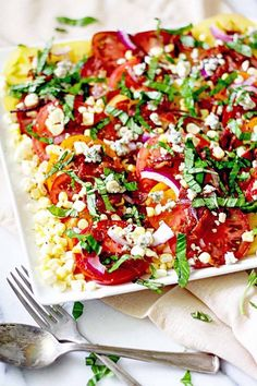 heirloom tomato and bacon summer salad