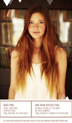 Haircut for Long, Stick-Straight Hair