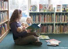 Tandem #breastfeeding at the library.