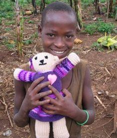 donate a knit or crochet bear