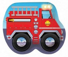 Fire Truck Shaped Plates