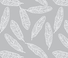 Tickling Feathers in storm fabric by lana_kole on Spoonflower - custom fabric