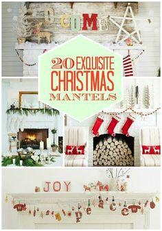 20 exquisit, exquisit christma, futur, mantel idea, christma decor, merri christma, christma mantel, 20 christma, christmas mantels