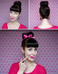 Upside Down French Top Knots