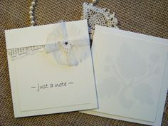 Just a Note  set of six cards by PearlsandaPromise on Etsy, $19.00