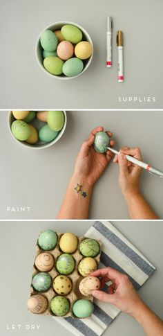 Make This: Metallic Egg Art Easter DIY | Paper & Stitch