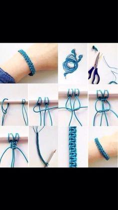DIY string bracelet