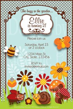 There's a buzz in the garden and I think it's this invitation!