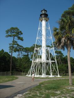 Cape San Blas, Florida lighthouse - it's in danger right now due to severe erosion. They have to raise about 200,000$ to have it moved down the road to Salinas Park or the city of Port St. Joe will move it to St. Joe. It's not the Port St. Joe lighthouse! It's the Cape San Blas lighthouse and it should remain on Cape San Blas!