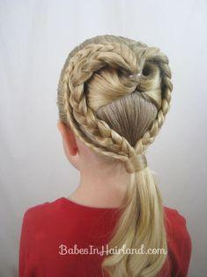 2 Braided Hearts Video | Valentine's Day Hairstyle | BabesInHairland.com #heart #hair #valentinesday #braids #hairstyle
