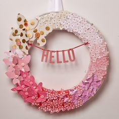 Ombre Butterfly Wreath