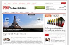 Site with lots of blogger templates Gazette Edition Blogger Template   Blogger Templates Gallery