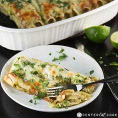 Green Chicken Chile Enchiladas