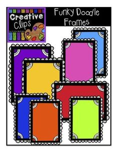 FREE CLIPART from Creative Clips! Enjoy these bright colorful frames! Perfect for task cards, product covers or labels!