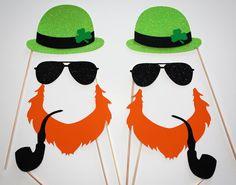 Gangsta Glitter St. Patrick's Day Leprechaun Photo Booth Props - 8 Piece Set