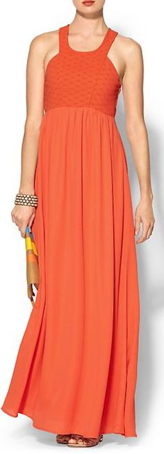 beautiful woven maxi dress http://rstyle.me/~2gvwX