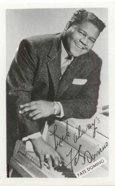 """Fats Domino (b. Feb. 26, 1928) is a Louisiana-born, American R and rock and roll pianist and singer-songwriter - think """"Ain't That a Shame"""" and """"Blueberry Hill"""""""