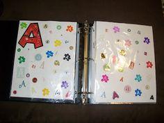 make a book, circles, letter recognition, alphabet letters, sticker, alphabet books, ants, scrapbooking supplies, kid