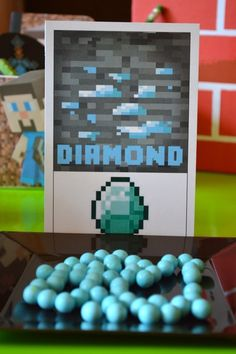 Diamonds at a Minecraft Party #minecraft #party