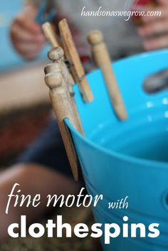 Pegs - a great fine motor skill for toddlers