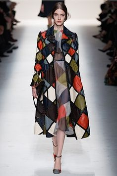 Valentino fall '14 Harlequin coat via Vogue.com. Photo: Kim Weston Arnold/Indigitialimages.com