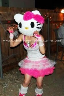 Homemade Hello Kitty Costume: I wanted to be hello kitty! I looked everywhere for a cute costume, then decided to make my own homemade Hello Kitty costume. I used a balloon *the large