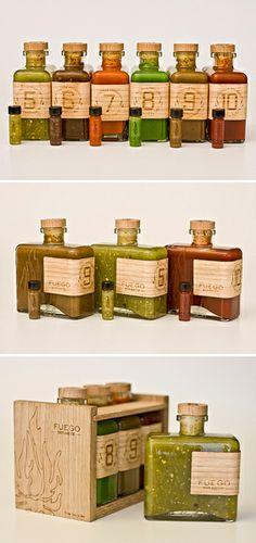 Fuego Hot Sauce #packaging #packagingdesign #salsa #salsapackaging