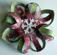 Beautiful paper snowflake ornament