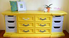 Amazing #vintage #dresser by Papaya Tree  #yellow #nursery