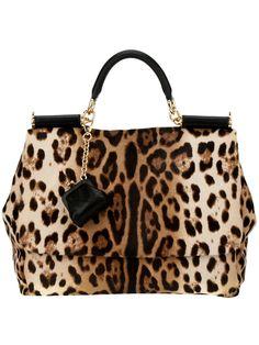 Dolce & Gabbana Leopard Print Tote