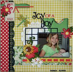 boy cheeri, joy, scrapbookcom, scrapbook photo, scrapbook layout
