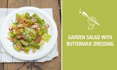 Garden Salad with Buttermilk Dressing