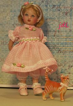 "Handmade dress for 8"" Riley Kish doll."