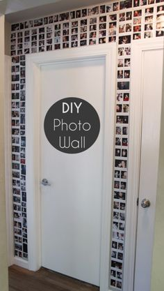 DIY Photo Wall - It's like Brian's Bathroom, but it's outside and with pictures instead :)