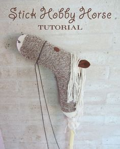 Wahoo! Gotta make this! From here: http://www.chickabug.com/blog/2011/10/how-to-make-a-stick-hobby-horse.html