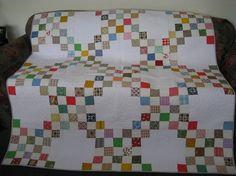 scrappy Irish Chain quilt