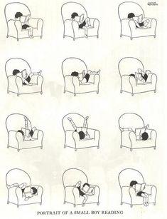 Portrait of myself reading.