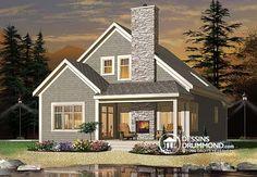 Plan de Maison unifamiliale W3963, dessinsdrummond drummonddesigns drummondhouseplans, house inspiration, home, maison, contemporaine, modern, chalet, cottage