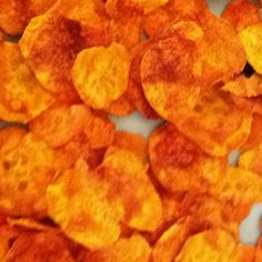 Sweet potato chips made with Pampered Chef Microwave Chip Maker!  Delicious!