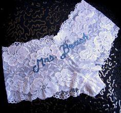So cute!!! Custom Mrs Bridal Panties, Bachelorette Wedding Shower Bridal Lingerie, Bridal Shower, Bachelorette Party Bride Lace Knickers. $24.50, via Etsy.