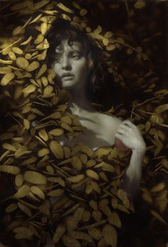 Brad Kunkle, Revelen, 9 x 12 inches, Oil and gold leaf on linen, Private collection