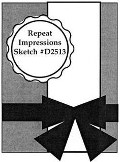 Repeat Impressions Sketch #D2513. Play along with our WHAT IF? Wednesday Sketch Challenges for your chance to win a Repeat Impressions gift certificate! - www.thehousethatstampsbuilt.com - #repeatimpressions #rubberstamps #rubberstamping #cardmaking