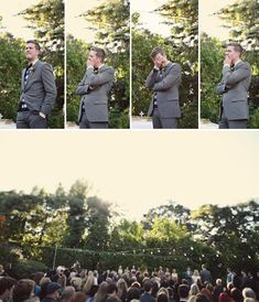 the groom's reaction to seeing the bride...