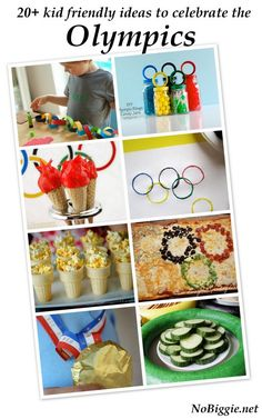 20+ kid friendly ideas- from games to crafts to snacks- to celebrate the Olympics! Go USA!