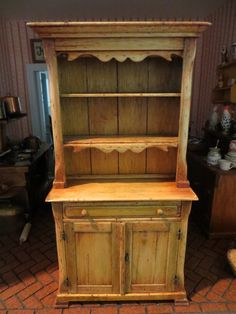 Miniature Artisan Signed Cindy Malon Wonderful Two Piece Country Cupboard
