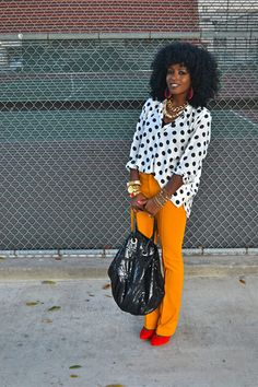 I love a polka dot moment with pops of color
