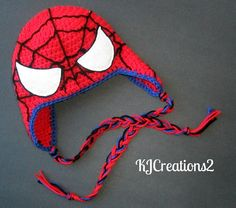... (hats) on Pinterest | Spiderman, Crochet Hats and Hat Patterns