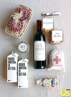 Gift Bags from Lauren Conrad's Wedding {love this}